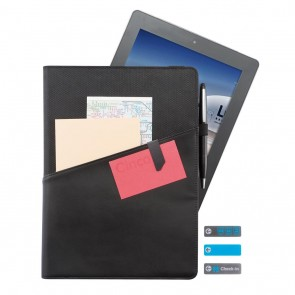 "Komo 9-10"" universal leather portfolio, black"