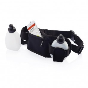 Running belt with bottles