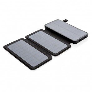 8.000 mAh solar powerbank, black