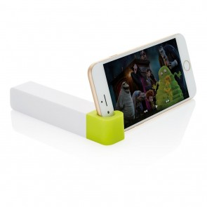 2.200 mAh powerbank with phone stand, green