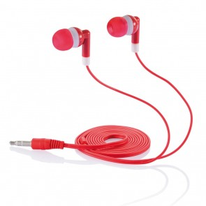 In-ear earphone red