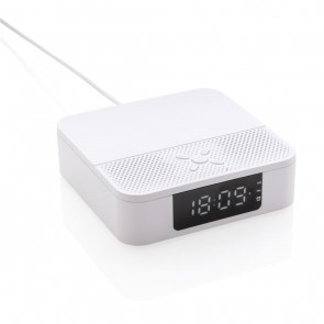 Wireless charging speaker with time display,
