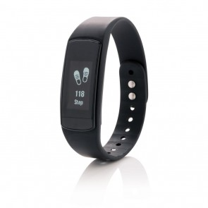 Activity tracker  with touch screen, black