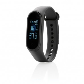 Stay Healthy with temperature measuring, black