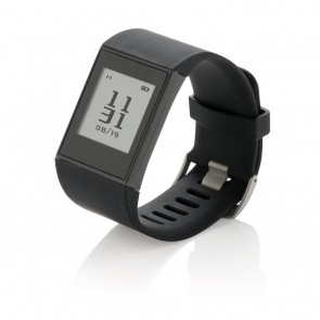 Multi-sport E-ink watch, black