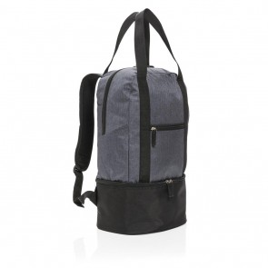 3-in-1 cooler backpack & tote, grey