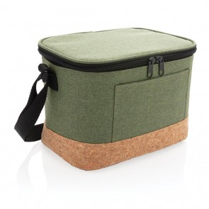 Two tone cooler bag with cork detail,