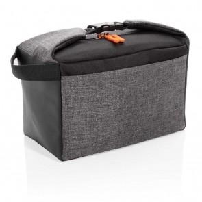 Two tone cooler bag, grey