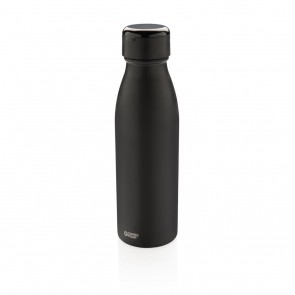 Swiss Peak vacuum bottle with mini true wireless earbuds, bl