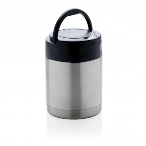 Vacuum insulated food container, silver
