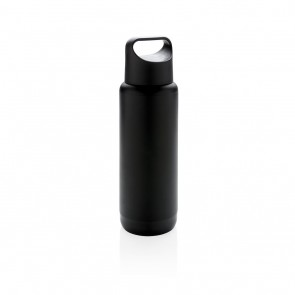 Light up logo leak proof flask, black