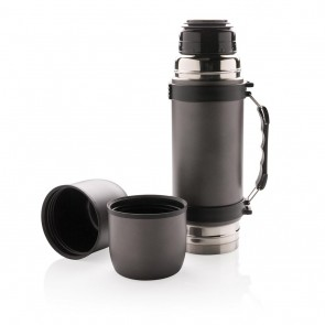 Swiss Peak vacuum flask with 2 cups,