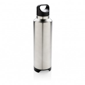 Vacuum flask with wireless speaker, grey