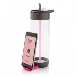 Tritan Bottle with stand, pink
