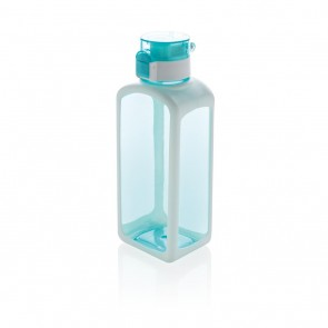 Squared lockable leak proof tritan water bottle,