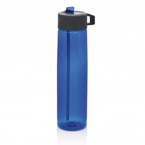 Tritan bottle with straw, blue