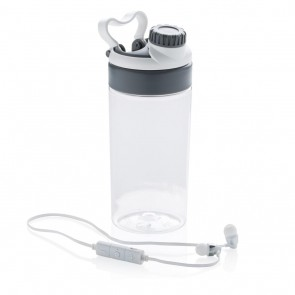Leakproof bottle with wireless earbuds,