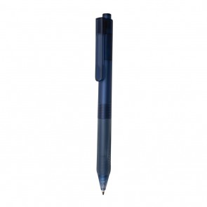 X9 frosted pen with silicon grip,