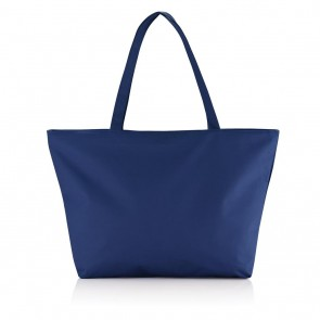 Beach shopper bag navy blue