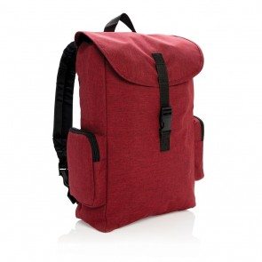 "15"" Laptop backpack with buckle, red"