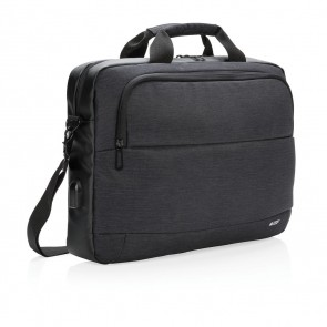"Swiss Peak modern 15"" laptop bag, black"