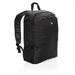 "Swiss Peak 17"" business laptop backpack, black"