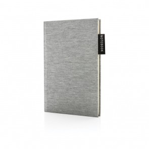 Deluxe A5 jersey notebook, grey