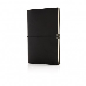 Swiss Peak A5 deluxe flexible softcover notebook, black