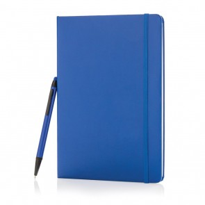 Standard hardcover A5 notebook with stylus pen,