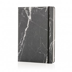 Deluxe marble A5 notebook, black
