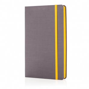 Deluxe fabric notebook with coloured side,