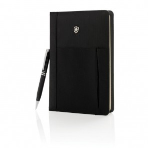Swiss Peak refillable notebook and pen set,