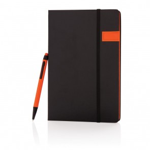 Deluxe 8GB USB notebook with stylus pen,