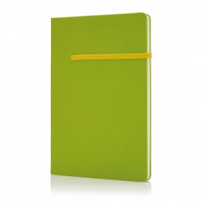 A5 notebook with horizontal band, green