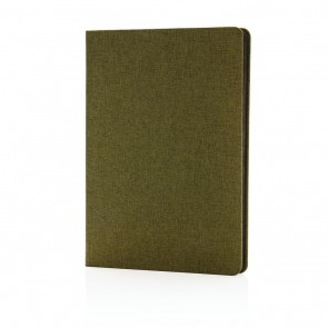 Deluxe fabric notebook with black side,