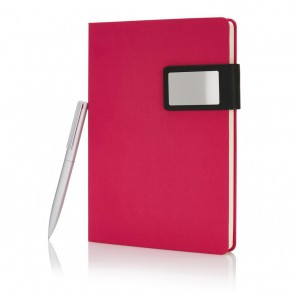 A5 Prestige notebook set, pink