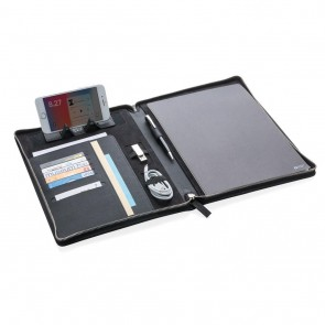 Swiss Peak Heritage A4 portfolio with zipper, black