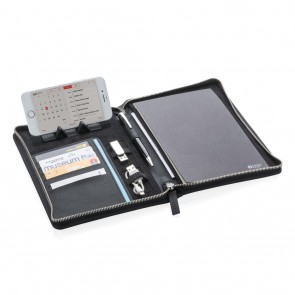 Swiss Peak Heritage A5 portfolio with zipper, black