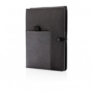 Kyoto notebook with 5W wireless charging, black