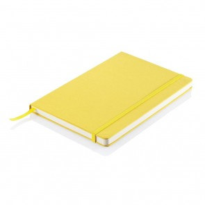A5 notebook with fabric cover yellow