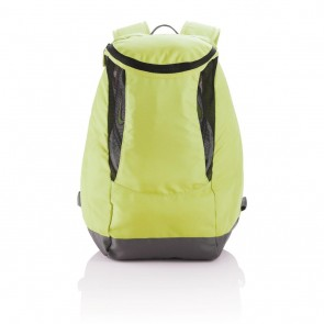 Backpack with sport shoe compartment, green
