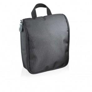 Executive cosmetic bag PVC free, black