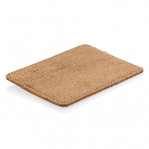 Cork secure RFID slim wallet, brown