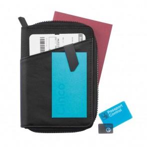 Komo leather passport holder