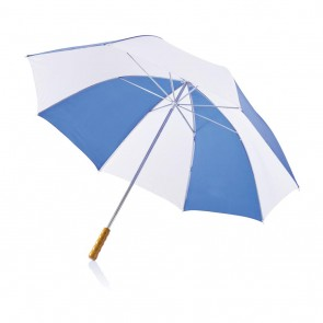 "Deluxe 30"" golf umbrella white/royal blue"