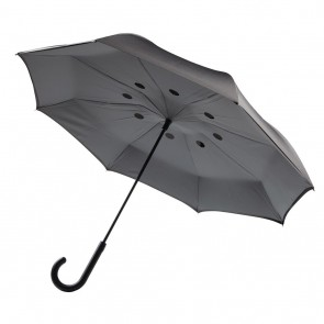 "Auto Close Reversible umbrella 23"", grey"