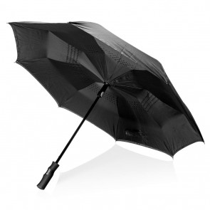"Swiss Peak 23"" auto open reversible umbrella, black"