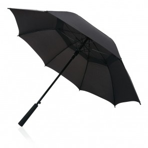 "Swiss peak Tornado 23"" storm umbrella, black"