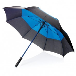 "27"" auto open duo color storm proof umbrella,"