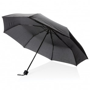 "21"" manual open umbrella with tote bag, black"